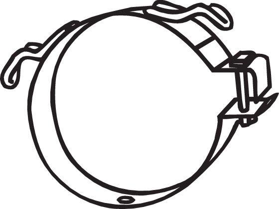 Original NISSAN Halter, Abgasanlage 251-943