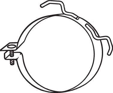 Original NISSAN Halter, Abgasanlage 251-945