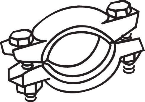 254-787 BOSAL Spaustukas, išmetimo sistema - įsigyti internetu