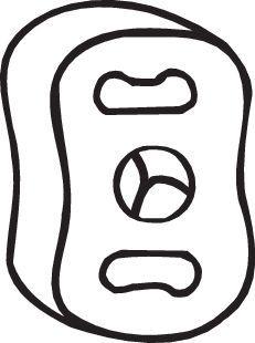 OPEL ASTRA 2017 Gummistreifen, Abgasanlage - Original BOSAL 255-024