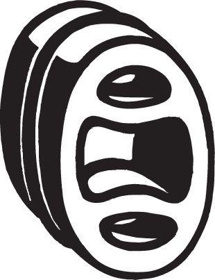OPEL MOKKA 2015 Gummistreifen, Abgasanlage - Original BOSAL 255-041