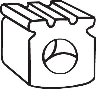 OPEL OMEGA 2000 Gummistreifen, Abgasanlage - Original BOSAL 255-045