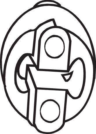 FORD FIESTA 2017 Gummistreifen, Abgasanlage - Original BOSAL 255-051