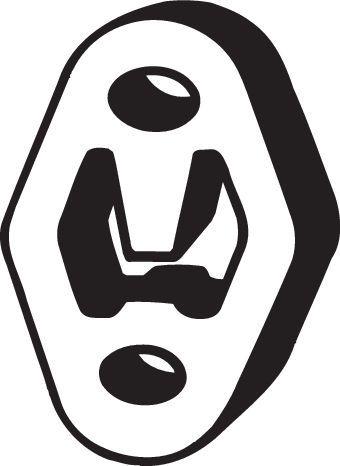 Original FORD Gummistreifen, Abgasanlage 255-059