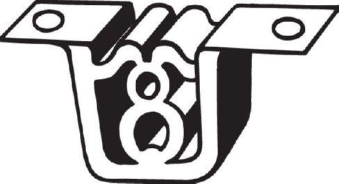 BMW X3 Gummistreifen, Abgasanlage - Original BOSAL 255-077