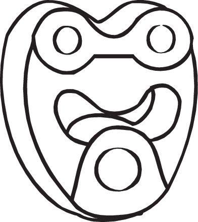 Gummistreifen, Abgasanlage Mercedes S211 2006 - BOSAL 255-123 ()