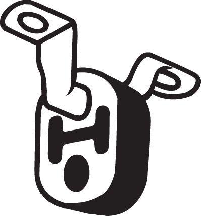 AUDI A4 2013 Gummistreifen, Abgasanlage - Original BOSAL 255-194