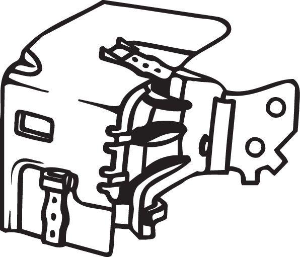 BOSAL Gummistreifen, Abgasanlage 255-204