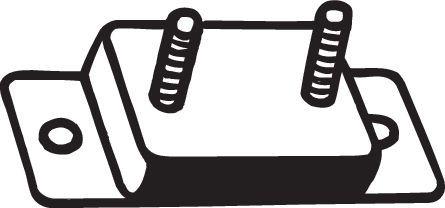 Volkswagen CRAFTER Rubber strip, exhaust system BOSAL 255-262: