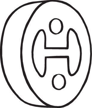 BOSAL: Original Gummistreifen, Abgasanlage 255-383 ()
