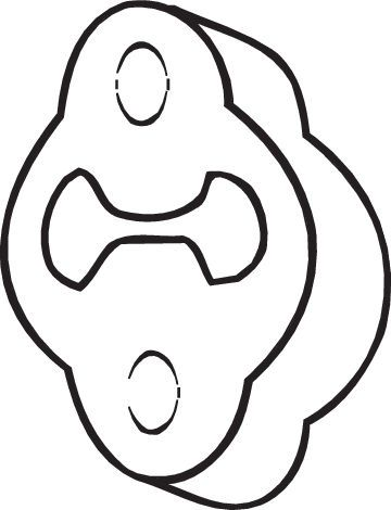 Gummistreifen, Abgasanlage Nissan Sunny III Liftback (N14) 1991 - BOSAL 255-623 ()