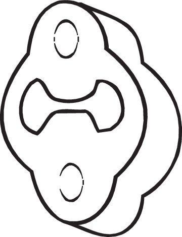 BOSAL: Original Gummistreifen, Abgasanlage 255-623 ()