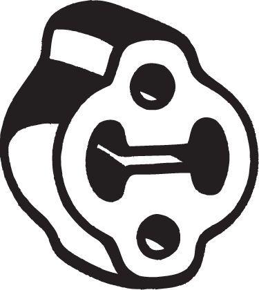 Gummistreifen, Abgasanlage BOSAL 255-624