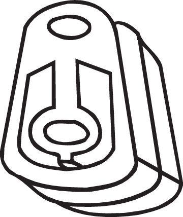 Gummistreifen, Abgasanlage Ford Fiesta Mk5 2004 - BOSAL 255-667 ()