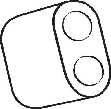 Gummistreifen, Abgasanlage Opel Corsa D 2010 - BOSAL 255-819 ()