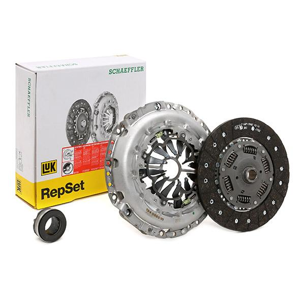 Audi A6 2013 Clutch kit LuK 624 3311 00: for engines with dual-mass flywheel, Check and replace dual-mass flywheel if necessary., Requires special tools for mounting, with clutch release bearing