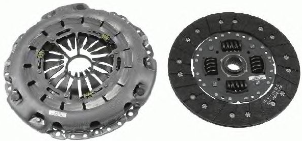 Mercedes E-Class 2017 Clutch set LuK 624 3241 09: for engines with dual-mass flywheel, Check and replace dual-mass flywheel if necessary., Requires special tools for mounting, with clutch plate, without clutch release bearing