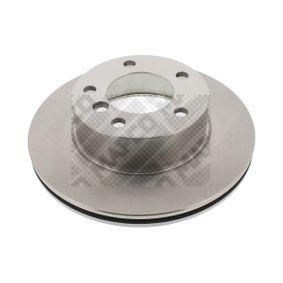 stabdžių diskas 25760 su puikiu MAPCO kainos/kokybės santykiu