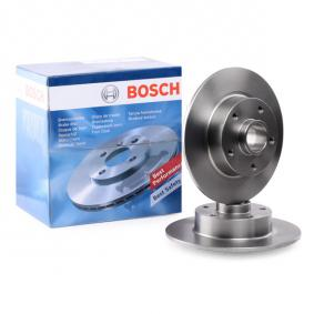 BD1521 BOSCH Voll, geölt, ohne Radlager, ohne integrierten magnetischen Sensorring Ø: 259,8mm, Lochanzahl: 5, Bremsscheibendicke: 8mm Bremsscheibe 0 986 479 684 günstig kaufen
