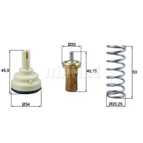 70809148 BEHR THERMOT-TRONIK Öffnungstemperatur: 79°C, mit Dichtung Thermostat, Kühlmittel TX 18 79D günstig kaufen