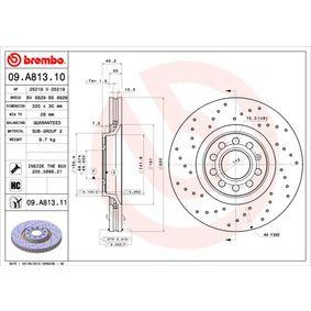 09.A813.11 BREMBO COATED DISC LINE Gelocht/innenbel., beschichtet, hochgekohlt, mit Schrauben Ø: 320mm, Lochanzahl: 5, Bremsscheibendicke: 30mm Bremsscheibe 09.A813.11 günstig kaufen