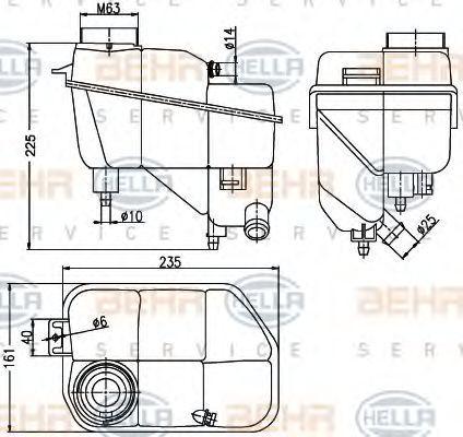 MERCEDES-BENZ E-Klasse 2015 Ausgleichsbehälter - Original HELLA 8MA 376 789-701