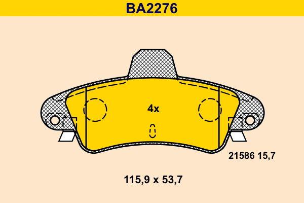 Scheibenbremsbeläge Barum BA2276