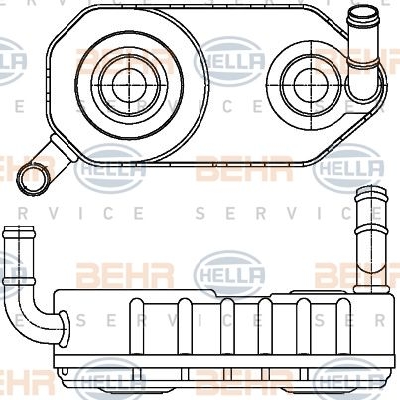 Getriebe Ölkühler HELLA 8MO 376 787-671
