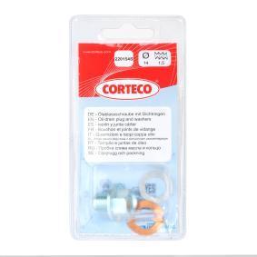 84920154 CORTECO mit Dichtring, Gewindemaß: M 14 x 1,5 x 14 Verschlussschraube, Ölwanne 220154S günstig kaufen