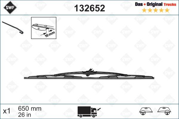 SWF Essuie-Glace de raclettes essuie vitre arrière 31785806 31785806
