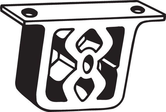 Gummistreifen, Abgasanlage Golf 7 2015 - BOSAL 255-054 ()