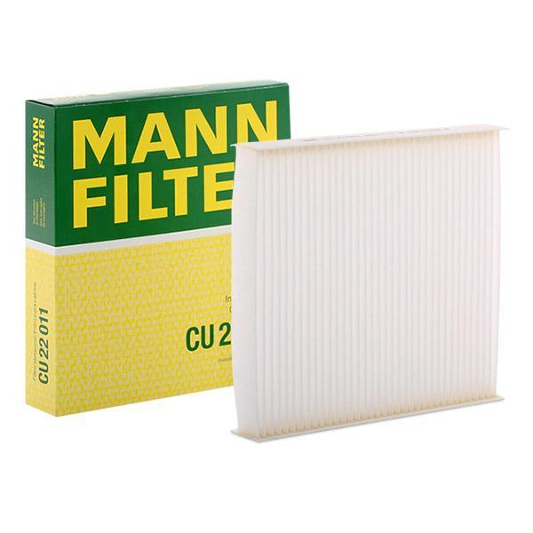 CU 22 011 MANN-FILTER Partikelfilter Breite: 200mm, Höhe: 35mm, Länge: 216mm Filter, Innenraumluft CU 22 011 günstig kaufen