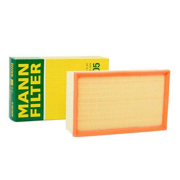 Achetez Filtre à air MANN-FILTER C 30 005 (Longueur: 292mm, Longueur: 292mm, Largeur: 177mm, Hauteur: 70mm) à un rapport qualité-prix exceptionnel