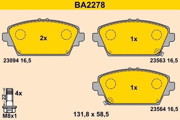 Bremssteine Barum BA2278