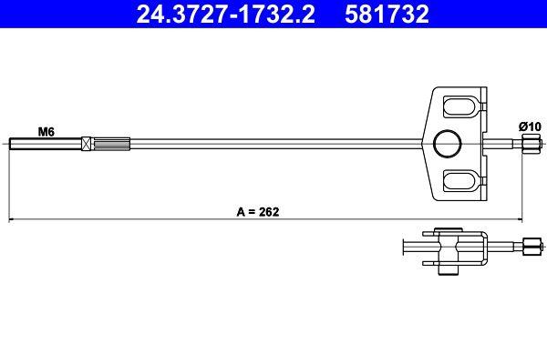 Handbremse 24.3727-1732.2 Nissan QASHQAI 2016
