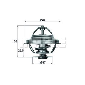 coolant Behr Thermot-Tronik TX 27 80D Thermostat