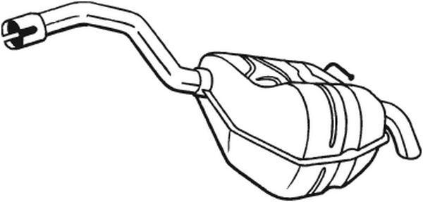 FORD S-MAX 2009 Nachschalldämpfer - Original BOSAL 154-353