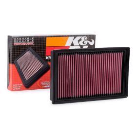 Achat de 33-3005 K&N Filters Filtres de longue durée Longueur: 294mm, Largeur: 178mm, Hauteur: 32mm Filtre à air 33-3005 pas chères