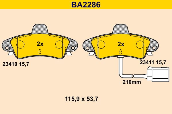 Bremsklötze Barum BA2286