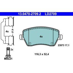 13.0470-2709.2 Bremssteine ATE in Original Qualität