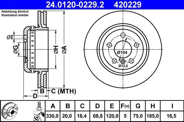 24.0120-0229.2 Brake Disc ATE Test