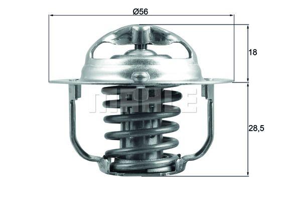 TX 29 85D BEHR THERMOT-TRONIK Thermostat, coolant - buy online