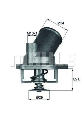 TH 5 75 Termostatas, aušinimo skystis BEHR THERMOT-TRONIK - Pigus kokybiški produktai