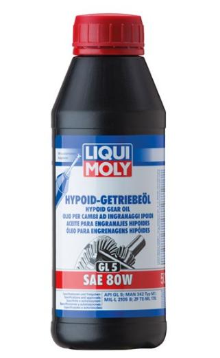 LIQUI MOLY Hypoid GL5 Växellådeolja 80W, 80W, Mineralolja, Innehåll: 0,5l 1402 TOMOS