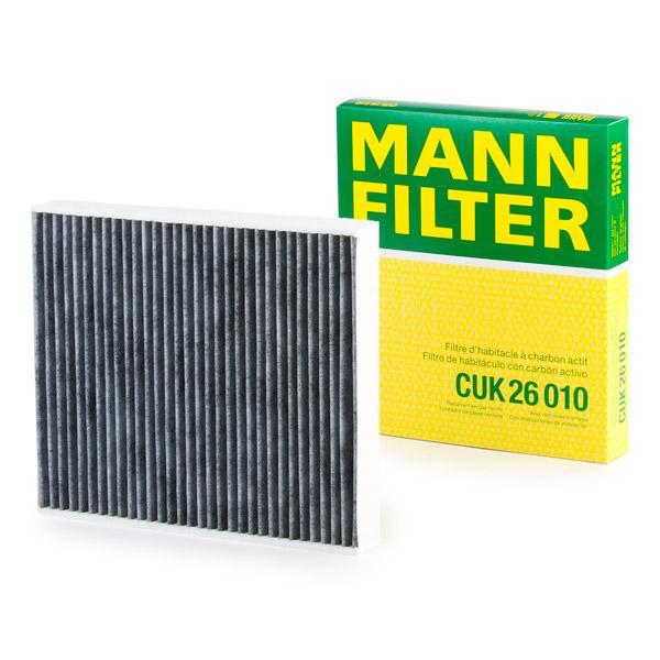 Origine Filtre a air de l'habitacle MANN-FILTER CUK 26 010 (Largeur: 224mm, Hauteur: 36mm, Longueur: 254mm)