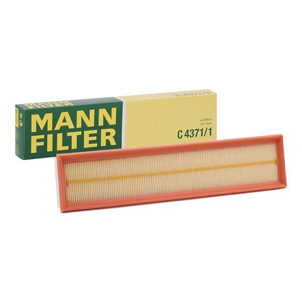 Zracni filter C 4371/1 z izjemnim razmerjem med MANN-FILTER ceno in zmogljivostjo