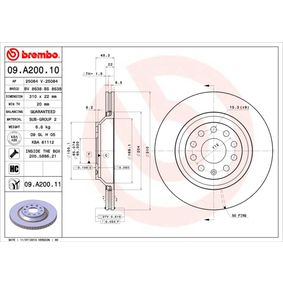 09.A200.11 Brake Disc BREMBO - Experience and discount prices