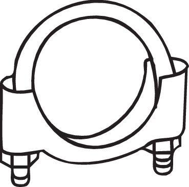 Volkswagen BEETLE TYPE 1 2002 Clamp, exhaust system BOSAL 250-250: Ø: 50mm