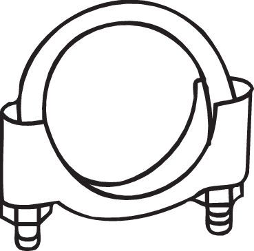 Buy original Clamp, exhaust system BOSAL 250-250