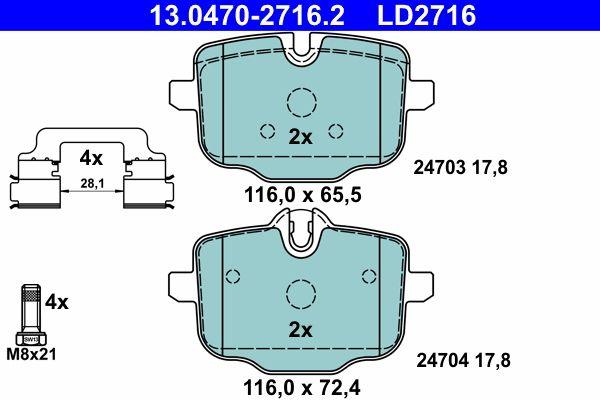 Bremseklodser ATE 13.0470-2716.2 Anmeldelser